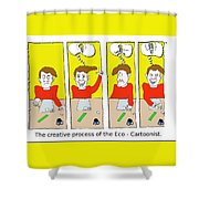 Eco Cartoonist Shower Curtain