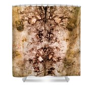 Eco Dyed Tapestry On Cotton Shower Curtain