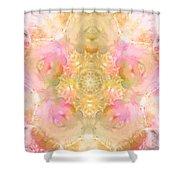 Eco Print Rose Mandala Shower Curtain