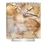 Eco Print 013d Shower Curtain