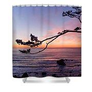 Ecola Park Sunset Shower Curtain