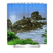 Ecola State Park Oregon 2 Shower Curtain by Shiela Kowing