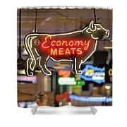 Economy Meats Shower Curtain