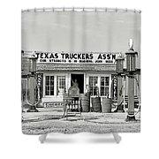 Edcouch Texas Gas Station 1939 Shower Curtain