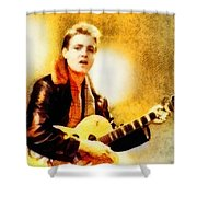 Eddie Cochran, Music Legend By John Springfield Shower Curtain