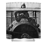 Eddie Rickenbacker - World War One - 1918 Shower Curtain
