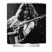 Eddie Van Halen - Black And White Shower Curtain