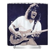 Eddie Van Halen Shower Curtain