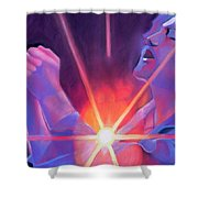 Eddie Vedder And Lights Shower Curtain
