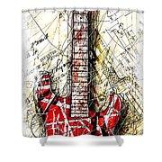 Eddie's Guitar Vert 1a Shower Curtain