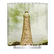 Eddystone Point Lighthouse Shower Curtain