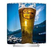 Edelweiss Beer In Kirchberg Austria Shower Curtain