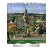 Edensor - Chatsworth Park - Derbyshire Shower Curtain