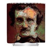 Edgar Allan Poe Artsy 2 Shower Curtain