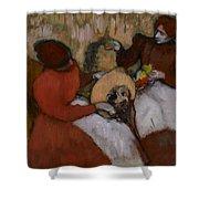 Edgar Degas - The Milliners - 1898 Shower Curtain