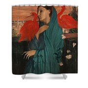 Edgar Degas - Young Woman With Ibis - 1860-1862 Shower Curtain