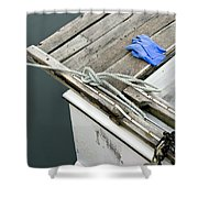 Edgartown Fishing Boat Shower Curtain