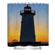 Edgartown Harbor Light Sunrise IIi Shower Curtain