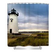 Edgartown Lighthouse Cape Cod Shower Curtain