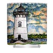 Edgartown Lighthouse Martha's Vineyard Mass Shower Curtain