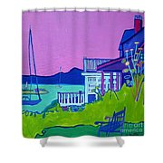 Edgartown Porches Shower Curtain