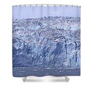 Edge Of A Huge Glacier In Alaska Shower Curtain