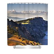 Edge Of The Crater Shower Curtain