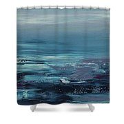 Edge Of The Deep Blue Sea Shower Curtain