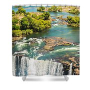 Edge Of The Falls Shower Curtain