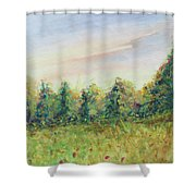 Edge Of Trees Shower Curtain
