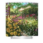 Edie's Garden Shower Curtain