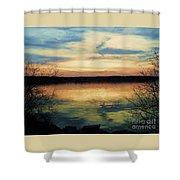 Edinboro Lake Nocturne No.3 Shower Curtain