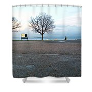Edinburgh - Two Trees At Caption Hill Shower Curtain