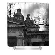 Edinburgh Black And White Shower Curtain