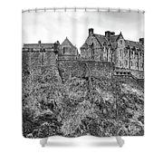Edinburgh Castle Bw Shower Curtain