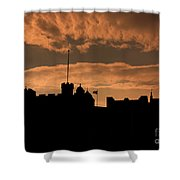 Edinburgh Castle Silhouette  Shower Curtain