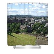 Edinburgh Castle View #6 Shower Curtain