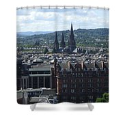 Edinburgh Castle View #8 Shower Curtain