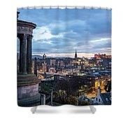 Edinburgh From Calton Hill Shower Curtain