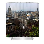 Edinburgh Princess Street Shower Curtain