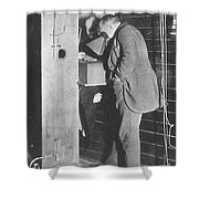 Edison Fluoroscope, 1896 Shower Curtain by Science Source