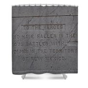 Edited Deleted History Shower Curtain