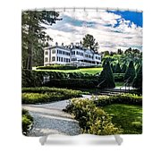 Edith Wharton Mansion Shower Curtain