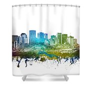 Edmonton Cityscape 01 Shower Curtain