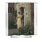 Edmund Blair Leighton 1852-1922 The Request Shower Curtain