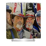 Edmund Ruffin Fire Eaters Color Guard 2016 Shower Curtain