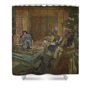 Edouard Vuillard  Sewing Party At Loctudy Shower Curtain