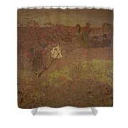 Edouard Vuillard - Walking In The Vineyard Shower Curtain
