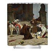 Eduardo Zamacois Y Zabala , Returning To The Monastery 1868 Shower Curtain