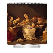 Education Of The Virgin 1642 Shower Curtain